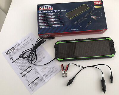 Sealey 12V/1.5W SPP01 Solar Power Panel Kit (BOXED AND ONLY USED ONCE!) • 3.50£
