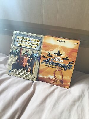 Classic Farm And Agricultural Machinery & Secret Superpower Aircraft DVD BOXSETS • 0.11£