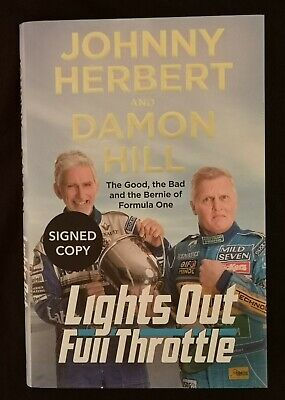 Damon Hill, Johnny Herbert Signed Autobiography, 1st Edition, Brand New Book • 24.99£