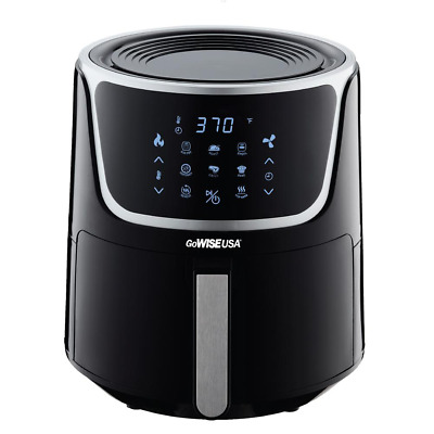 $ CDN164.92 • Buy 7 Qt. Black Air Fryer With Dehydrator And 3 Stackable Racks With 8 Functions