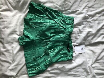 Topshop Green Floatly Silky Petite Shorts Size 10 Bnwt • 1.50£