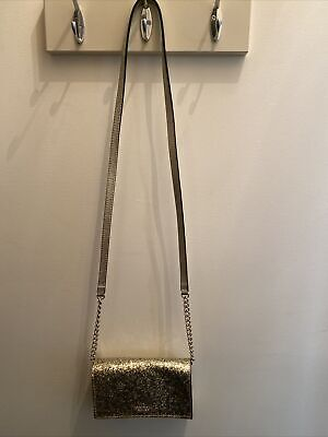 $ CDN15.25 • Buy Kate Spade Gold Glitter Shoulder Bag/crossbody