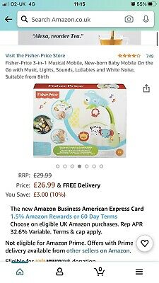 £12 • Buy Fisher Price Rainforest Friends Baby Mobile
