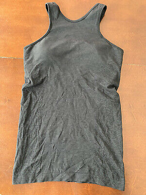 $ CDN57.99 • Buy Lululemon Seamlessly Covered Tank Size 8 Heathered Black Top Shirt
