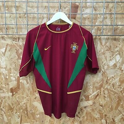 Portugal Nike Home Shirt 2002/2004 - S SMALL - Jersey Top Kit Ronaldo • 32£