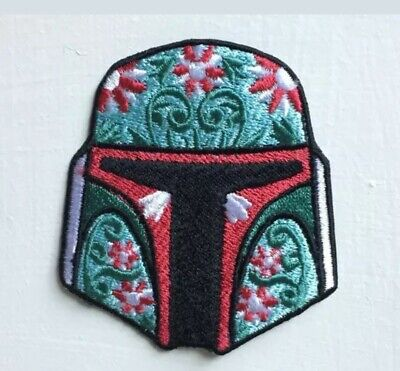 £1.85 • Buy Boba Fett Helmet Star Wars Badge Iron Or Sew On Embroidered Patch