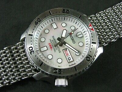 $ CDN445.09 • Buy SEIKO SKX007 Mod Marine Master 300 Mother Pearl Dial NH36 Water Proof  A1 Cond