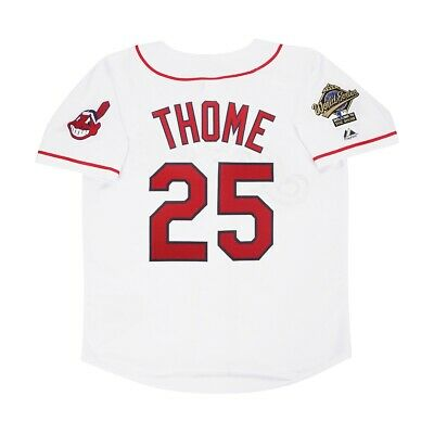 $109.99 • Buy Jim Thome 1995 Cleveland Indians Home White World Series Men's Jersey