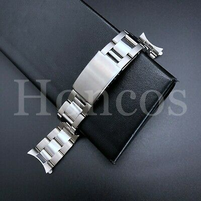 $ CDN26.56 • Buy 19mm Oyster Watch Band Bracelet For Rolex Air King 1500 5500 Stainless Silver