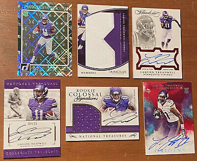 $ CDN1.26 • Buy Laquon Treadwell 2016 Panini Rookie Lot W/ 4 Autos, 1 Patch, And 1 SP /999