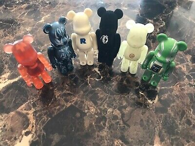 $70 • Buy Lot Of (6) Random Medicom Bearbrick Be@rbrick Bears From 2002 100%