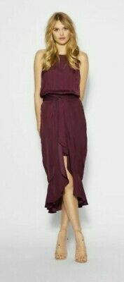 AU29.99 • Buy Sheike Satellite Dress Merlot Size 12 Bnwt