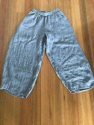 AU29 • Buy Grey Linen Pants - Size 8 - New With Tags