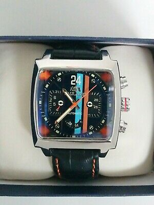 Sports Watch Motorsport Steve McQueen Le Mans 24 Retro Racing Goodwood Style New • 65£