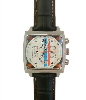 New  Watch Motorsport Steve McQueen Le Mans 24 Hours Retro Racing Cream Face  • 66£