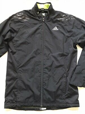 $ CDN38.14 • Buy Adidas Sz M Black Supernova Climaproof Full Zip Ventilated Windbreaker Jacket