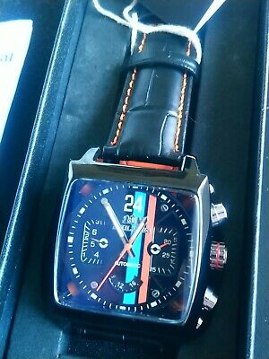 Mens Motorsport Le Mans Race Steve McQueen Style Watch New With Tag  Leather  • 59.99£
