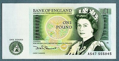 Bank Of England One Pound Note, D Somerset, AS47 555045 • 1£