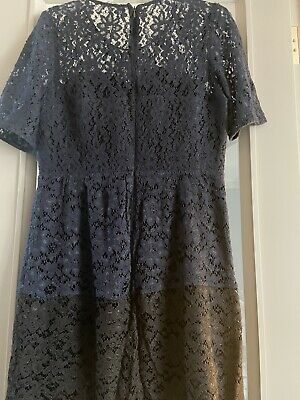 Whistles Lace Two Tone Dress Size 12  • 2.90£