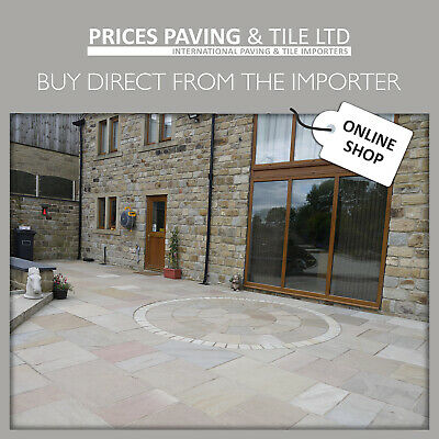 Indian Sandstone Paving | Patio Pack | Calibrated Raj Green Blend | 1m2 Inc Vat* • 17.99£