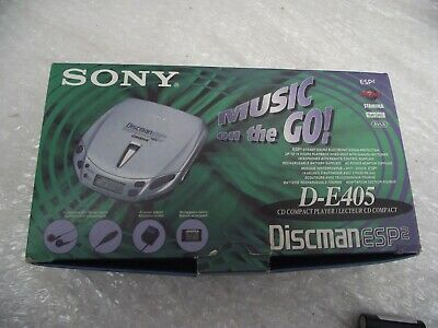 Sony Discman ESP2 - D-E405 - Groove Personal CD Player NEW In Box • 24£