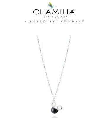 £49.99 • Buy Genuine CHAMILIA 925 Silver Disney MICKEY MOUSE Pearl NECKLACE RRP £75