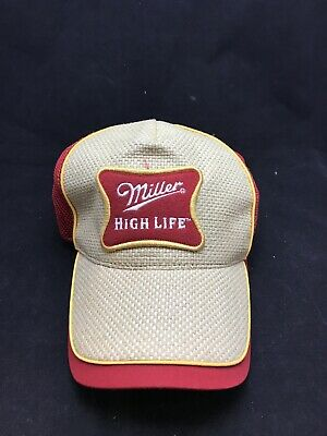 $13.94 • Buy Miller High Life Red Baseball Cap Hat Woven Canvas Pattern Adjustable Snap Back