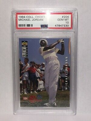 $399 • Buy PSA 10 GEM MINT Michael Jordan 1994 Collector Choice #204 HOF GOLF Upper Deck