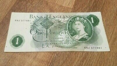 Bank Of England -  Old £1 One Pound Note SERIES C • 4.99£