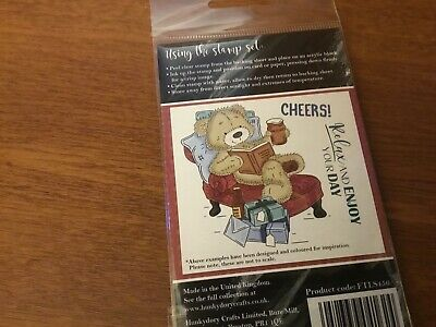 Hunkydory For The Love Of Clear Stamp Set Teddy Loves ... A GOOD BOOK 3 Stamps • 4.99£