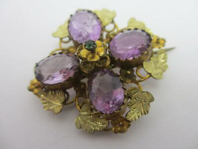 Suffragette Brooch Pin Pinchbeck Antique Edwardian C1910 Tbj1586 • 0.99£