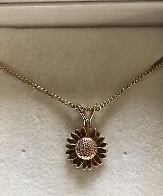 Delicate Welsh Clogau Gold Daisy Necklace • 34£