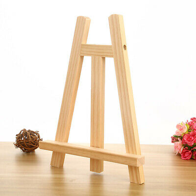 Mini Wooden Easel Table Wedding Picture Name Card Holder Display Small Stand • 4.22£