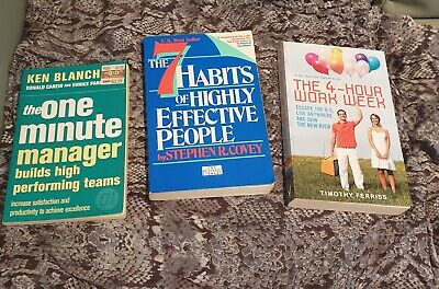 AU30 • Buy 3 Great Business Books Management Effective People & 4 Hour Work Week