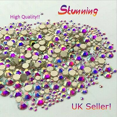 £2.35 • Buy Rhinestones SS5 And SS8 Nail Art 3 Types Of Backing UK Seller Brand New