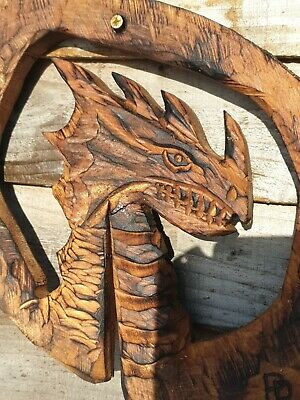 £39.99 • Buy Chainsaw Wall Hanger Carving Of A Dragon