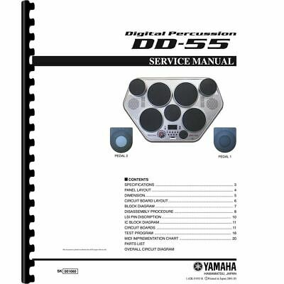 £8.45 • Buy Yamaha DD-55 Digital Percussion Drum Machine Service Manual (Pages:29)