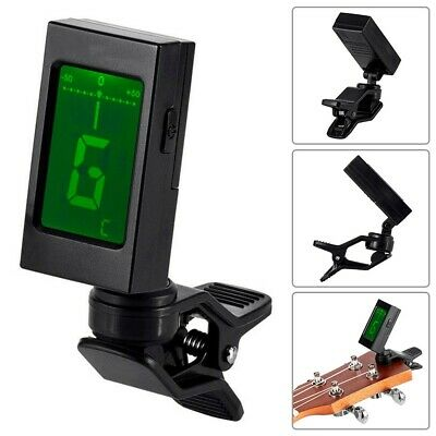 $ CDN19.35 • Buy Clip-On Guitar Bass Violin Ukulele Chromatic Headstock LCD Tuner With Batteries
