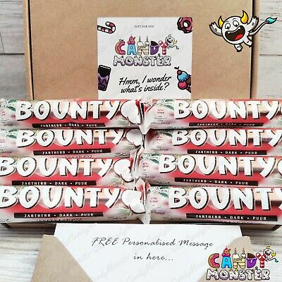 8 X Bounty Dark Chocolate Sweet Hamper Selection Gift Box Present Personalised  • 9.99£