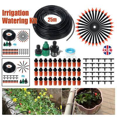 25M Automatic Drip Irrigation System Kit Plant +Timer Self Watering Garden  • 14.03£