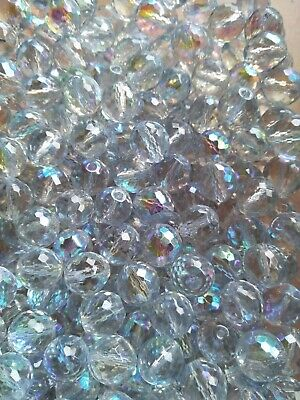AU3.40 • Buy 22 Clear Large Round Czech Glass Beads Faceted/disco Ball 12mm (jb2600)