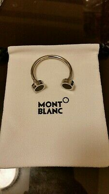 £77.37 • Buy MONTBLANC Stainless Steel Key Ring C Shape With Black Onyx Insert- Brand New