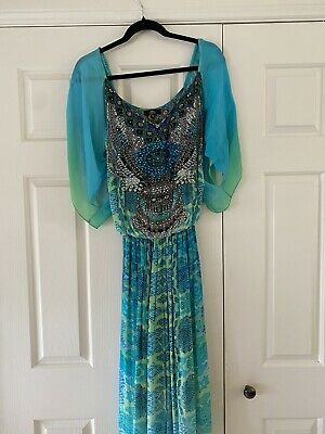 AU175 • Buy Czarina Embellished Silk Jumpsuit Size 12
