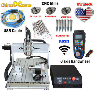 $1804.05 • Buy 2200W CNC 6040 4Axis Router Mach3 USB Engraving Cutting/Milling Machine US Stock
