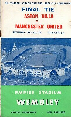 FA CUP FINAL Match Day Official Programmes 1957 / 1958 / 1959 Manchester United • 3£