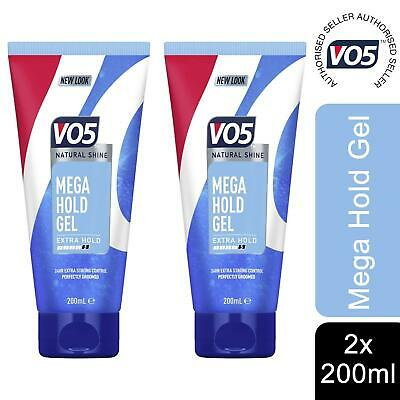 £4.91 • Buy 2x Of 200ml VO5 Mega Hold Gel Natural Shine 24hr Extra Hold Control Styling Gel