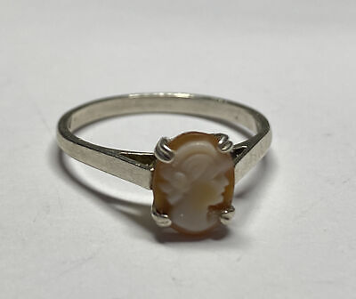 £24.99 • Buy Vintage Silver 925 Cameo Ring - 1.93g