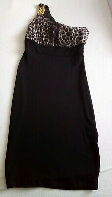 Jane Norman Animal Print One Shoulder Summer Party Dress Size 10 New • 7£