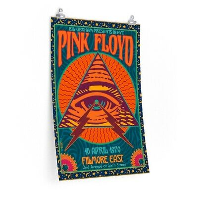 $17.23 • Buy 1970 PINK FLOYD Concert Poster Live At Filmore East NYC