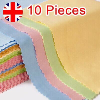 10PCS Cleaning Cloth Glasses Screen Sunglasses Phone Camera Lens Spectacles UK • 2.75£